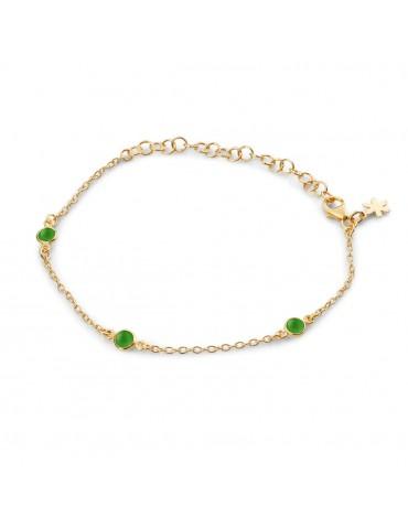 SFB - armbånd med grøn agat.