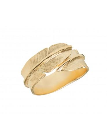 Heiring ring -  guld fjer