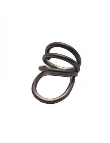 Heiring sølv oxideret ring