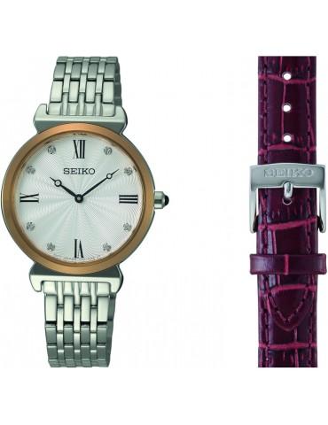 Seiko ur med lænke+rem