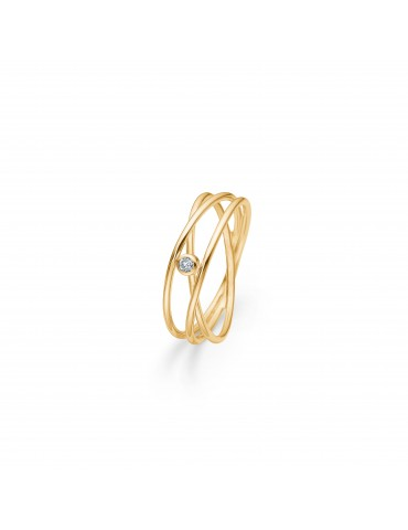 Mads Z - guld ring med diamant