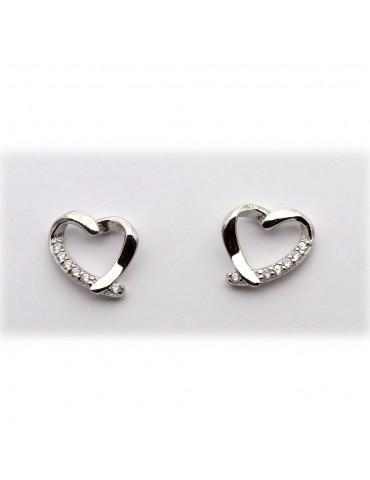 sølv ørestik - hjerter