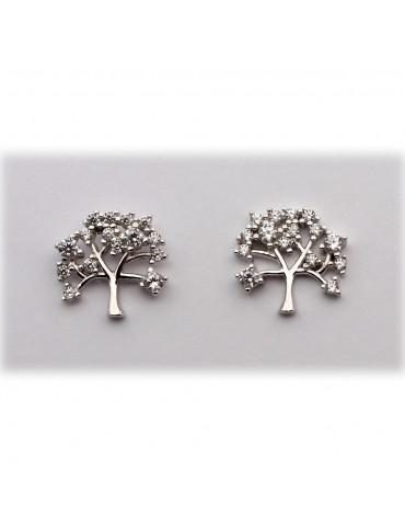sølv ørestik - livets træ