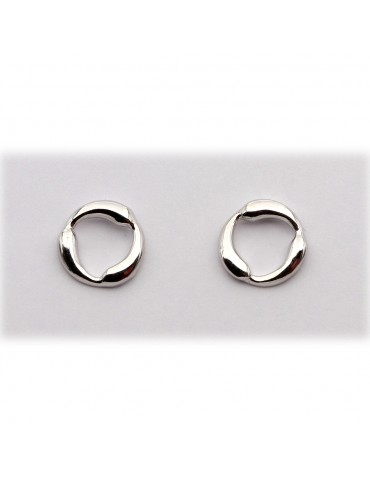 Sølv ørestik - cirkel