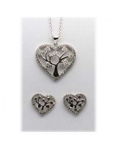 Sølv smykkesæt - hjerter...